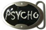 PSYCHO BELT BUCKLE + display stand
